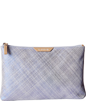 Lodis Accessories - Sophia Cross Hatch Flat Pouch