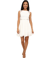 Aidan Mattox - Chiffon Party Dress with Lace Illusion