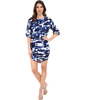 Michael Stars - Cloud Print Roll Up Elbow Sleeve Dress