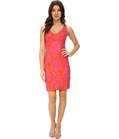 Nicole Miller - Baroque Embroidered Neoprene V-Neck Dress