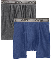 Jockey Kids - Cotton Performance Boxer Brief 2-Pack (Little Kids/Big Kids)
