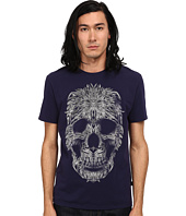 Just Cavalli - Short Sleeve Feather Skull Graphic Super Slim Tee