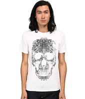 Just Cavalli - Short Sleeve Feather Skull Graphic Super Slim Tee