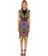 Just Cavalli - Fitted Printed Dress w/ Cutouts