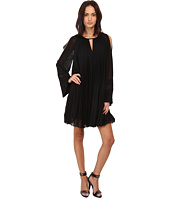 Just Cavalli - Pleated Long Sleeve Flared Dress