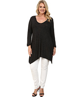 Allen Allen - Plus Size Three Quarter Angled Tee