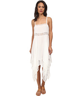 Free People - Dobby Dot & Lace Pieced Trapeze Slip