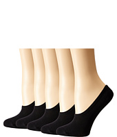 Steve Madden - 5-Pack Black Mesh Footie