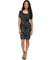NYDJ - Dahlia Floral Houndstooth Dress