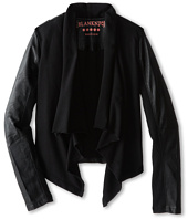 Blank NYC Kids - Drape Jacket w/ Vegan Leather Sleeves (Big Kids)