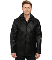 Kenneth Cole New York - Faux Leather Moto w/ Hood