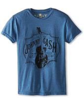 The Original Retro Brand Kids - Johnny Cash Heathered Tee (Big Kids)