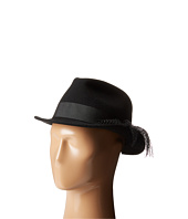 San Diego Hat Company - WFH7972 Fedora with Gold Chain Band and Underturned Brim