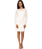 Laundry by Shelli Segal - Lace Blocked Long Sleeve Shift Dress