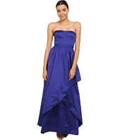 Adrianna Papell - Strapless Taffeta Ball Gown w/ Cross Skirt Detail