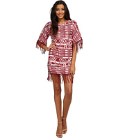 Sam Edelman - Cheyenne Fringe Beaded Poncho Dress