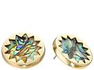 Abalone Sunburst Stud Earrings