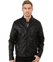 Kenneth Cole New York - Distressed Faux Leather Rider's Jacket