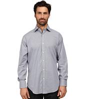 Thomas Dean & Co. - Long Sleeve Woven Textured Geometric