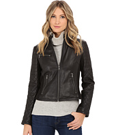 Levi's® - Smooth Lamb Zip Front Racer w/ Knit Paneling