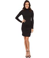 Velvet by Graham & Spencer - Soft Texture Knit Long Sleeve Turtleneck Dress