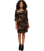 Karen Kane Plus - Plus Size Gold Dust Burnout Dress