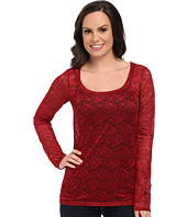 Roper - 0065 Allover Stretch Lace Top