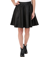 Stetson - Black Lamb Leather Circle Skirt