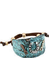 M&F Western - Hammered Horeshoe & Arrows Cuff Bracelet