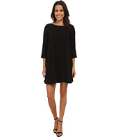 Michael Stars - Modern Rayon 3/4 Sleeve Crew Neck Mini Dress