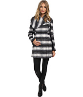 Sam Edelman - Novelty Wool Asymmetrical Clip Coat