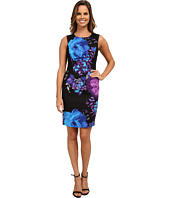 Adrianna Papell - Placement Print Fitted Dress