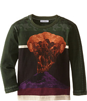 Dolce & Gabbana Kids - Volcano Print Long Sleeve T-Shirt (Toddler/Little Kids)