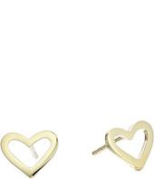 Roberto Coin - Open Heart Stud Earrings - Tiny Treasures