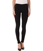 Plush - Fleece-Lined Faux Leather Tuxedo Leggings