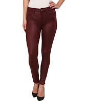 7 For All Mankind - High Waist Ankle Knee Seam Skinny in Merlot Crackle