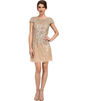 Adrianna Papell - Cap Sleeve Beaded Cocktail Dress