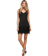 Adrianna Papell - Ponte and Shift Fringe Dress