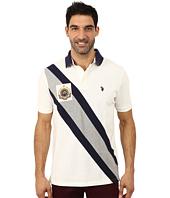 U.S. POLO ASSN. - Diagonal Striped Pique Polo