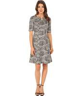 Tahari by ASL - Metallic Boucle with Necklace Dress