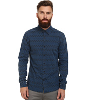 Scotch & Soda - Radio Blauw Allover Printed Shirt