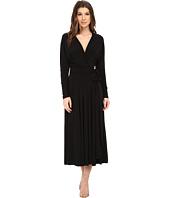 KAMALIKULTURE by Norma Kamali - Dolman Front Back Wrap Flair Dress