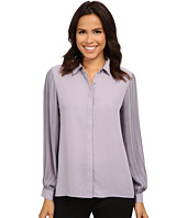 Vince Camuto - Long Sleeve Pleated Sleeve Button Front Blouse