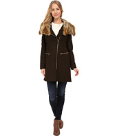 Via Spiga - Asymmetrical Coat w/ Multi Raccoon Faux Fur Collar