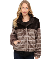 Via Spiga - Faux Fur Color Block Coat