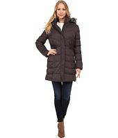 Via Spiga - Down Coat w/ FF Trimmed Hood and Shirred Sides