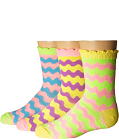 Jefferies Socks - Pastel Neon Wavy Crew 3-Pack (Infant/Toddler/Little Kid/Big Kid)