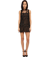 Vera Wang - Shift Dress w/ Sleeveless Tulle
