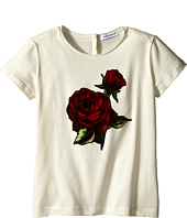 Dolce & Gabbana Kids - Jersey T-Shirt w/ Applique Rose (Toddler/Little Kids)