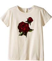 Dolce & Gabbana Kids - Jersey T-Shirt w/ Applique Rose (Big Kids)